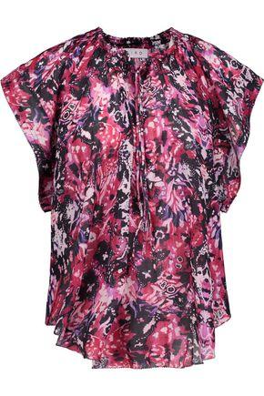IRO Iseline printed broadcloth top