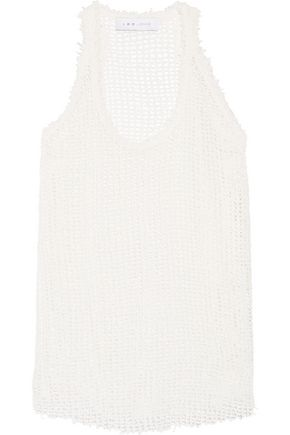 IRO Kacey open-knit cotton-blend tank