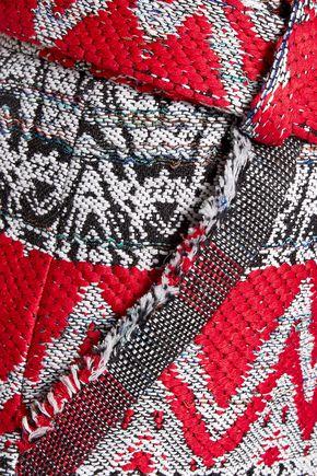 IRO Silvery tie-front bouclé-knit shorts