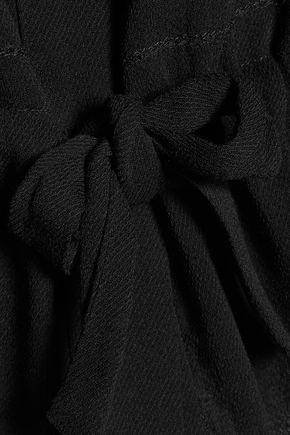 IRO Farel crochet-trimmed georgette top
