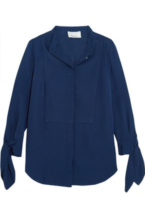 3.1 PHILLIP LIM Knotted silk crepe de chine shirt