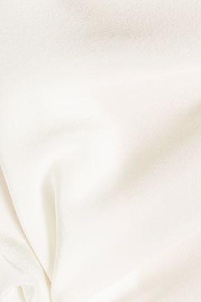 3.1 PHILLIP LIM Cutout frayed silk crepe de chine top