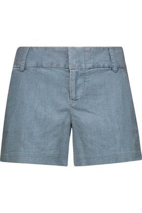 ALICE + OLIVIA Cady chambray shorts