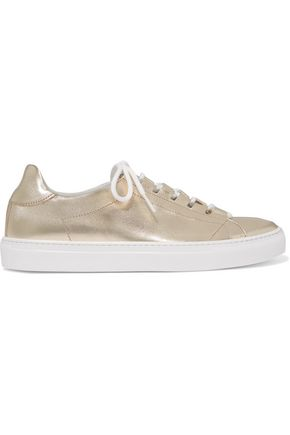 IRIS & INK Metallic leather sneakers