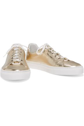 IRIS AND INK Metallic leather sneakers