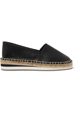 8 Laser-cut leather espadrilles