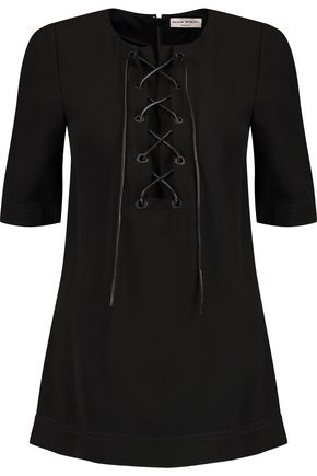 SONIA RYKIEL Lace-up crepe top