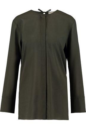 NINA RICCI Wool-crepe blouse