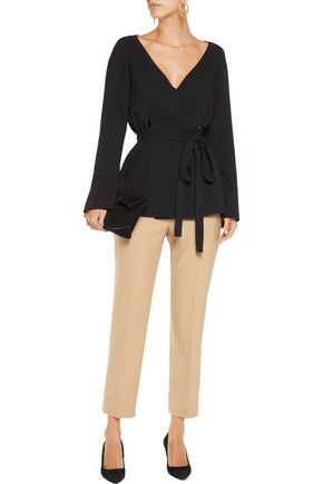 NINA RICCI Belted wool-blend top