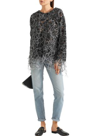 ADAM LIPPES Felted lace sweater