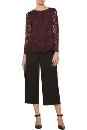 ADAM LIPPES Cotton-blend corded lace top