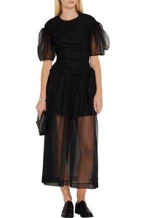 SIMONE ROCHA Ruched tulle top