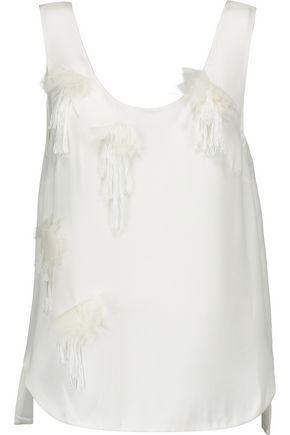 3.1 PHILLIP LIM Embellished silk crepe de chine tank