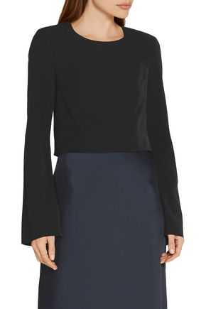 ELIZABETH AND JAMES Leo cropped crepe top