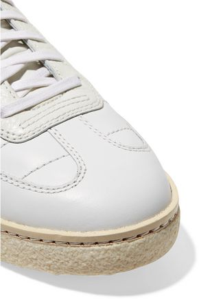 ALEXANDER WANG Eden smooth and textured-leather sneakers