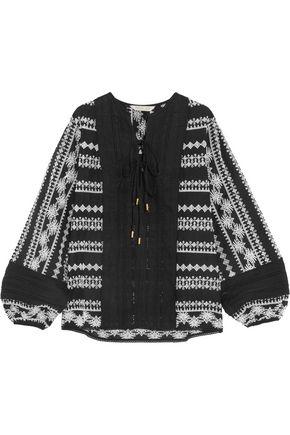 RACHEL ZOE Alexa broderie anglaise cotton-gauze blouse