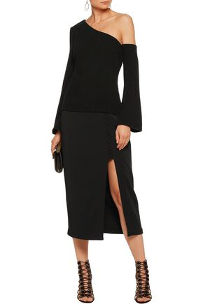 RACHEL ZOE Mia one-shoulder crepe top
