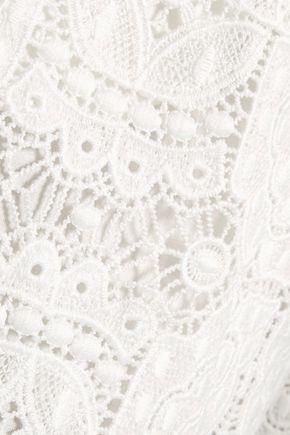 MAJE Ianis crocheted-lace shorts