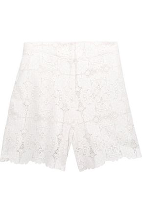 MAJE Ianis crocheted-lace shorts