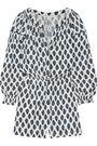 MAJE Tre printed broadcloth playsuit
