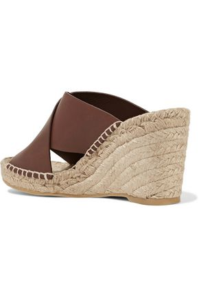VINCE. Suraya leather espadrille wedge sandals