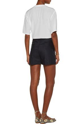 SANDRO Pelma striped wool shorts