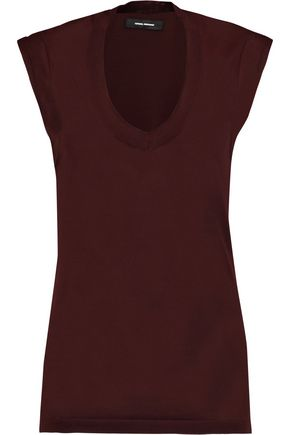 ISABEL MARANT Shana cotton-blend top