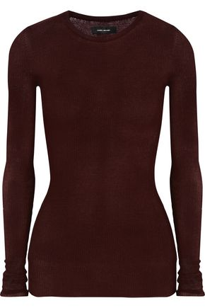 ISABEL MARANT Sheldon ribbed cotton-blend top
