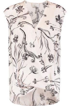 3.1 PHILLIP LIM Wrap-effect printed silk blouse