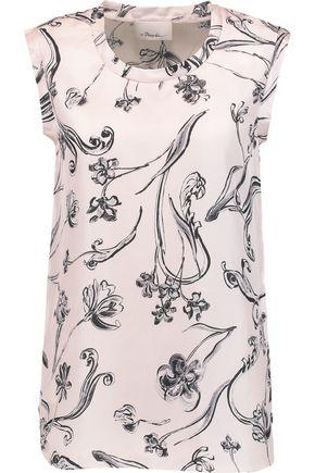 3.1 PHILLIP LIM Floral-print silk-twill top