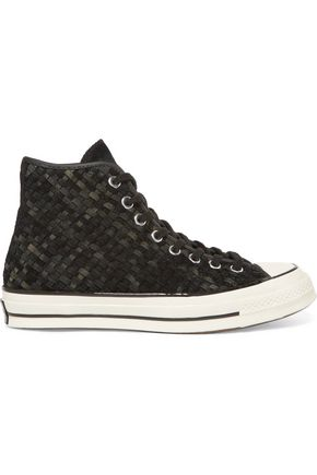 CONVERSE Woven suede high-top sneakers