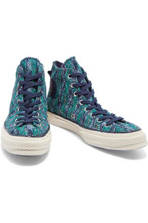 CONVERSE + Missoni Chuck Taylor crochet-knit high-top sneakers
