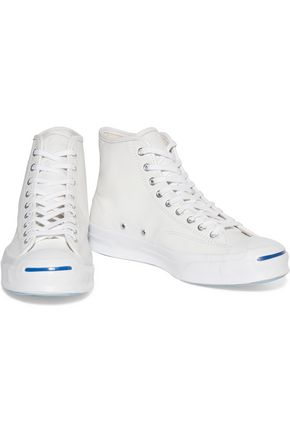 CONVERSE Jack Purcell Signature leather high-top sneakers