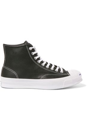 CONVERSE JACK PURCELL Jack Purcell Signature leather high-top sneakers