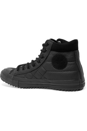 CONVERSE Quilted leather high-top sneakers
