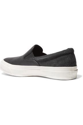 CONVERSE Deck Star 67 leather and suede slip-on sneakers