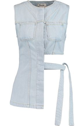 ACNE STUDIOS Draped asymmetric denim top