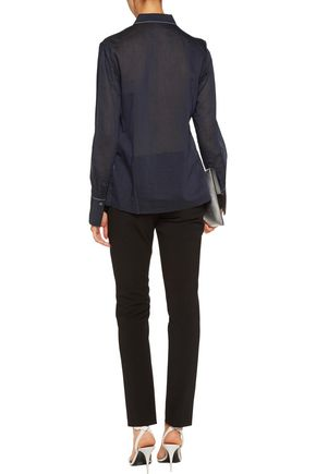 3.1 PHILLIP LIM Gathered cotton and silk-blend blouse