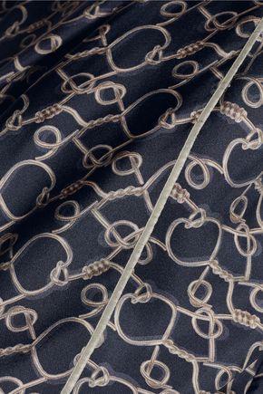 3.1 PHILLIP LIM Draped printed silk blouse