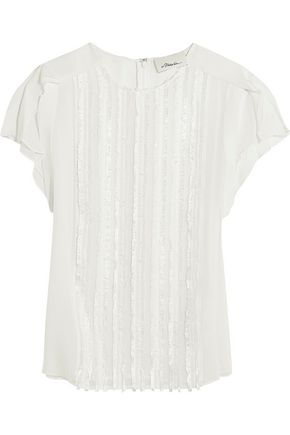 3.1 PHILLIP LIM Fil coupé silk-chiffon top