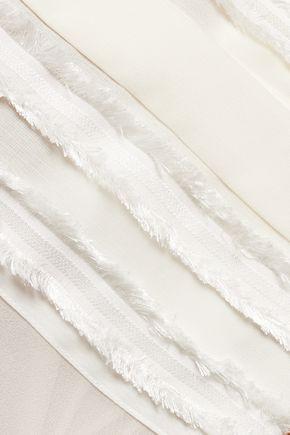 3.1 PHILLIP LIM Fringed silk and chiffon top