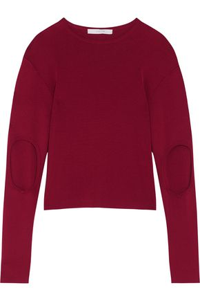 DION LEE Cutout stretch-knit top