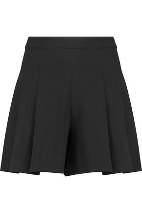 ALICE + OLIVIA Lorna pleated crepe shorts