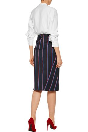 ALTUZARRA Amanda embellished cutout textured-satin blouse