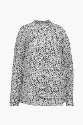 ALTUZARRA Amanda embellished floral-print silk crepe de chine blouse