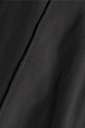 ALTUZARRA The Benny lace-up silk-chiffon and silk-satin blouse