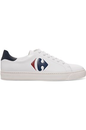 ANYA HINDMARCH Tennis Shoe Carrefour embossed leather sneakers