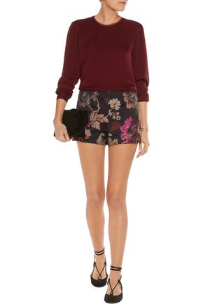 ALICE + OLIVIA Sherri metallic jacquard shorts