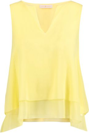 TORY BURCH Alexandra layered silk-chiffon top