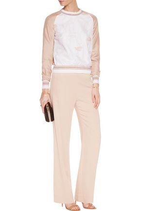 RAOUL Embroidered tulle and silk sweatshirt